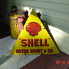 Shell Motor Spirit & Oil...Double Sided Porcelain Sign...Three Colors...1920's