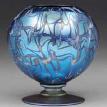 DURAND ROSE BOWL  c. 1925 - Art Glass