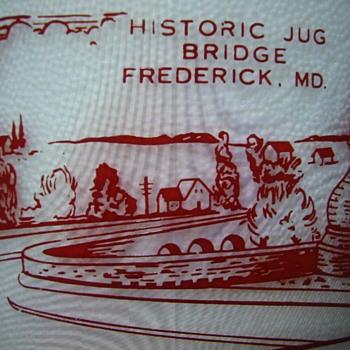 "FREDERICK MARYLAND MILK BOTTLE FEATURING HISTORIC ""JUG BRIDGE""......... - Bottles"