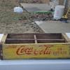 antique vintage crate coca-cola, & pepsi metal and wood 1969,1973,1975