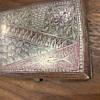 Silver carved antique cigarette case
