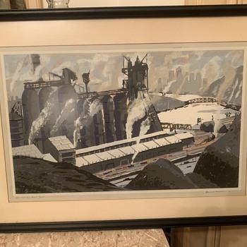 Howard Worner 1959 Serigraph PITTSBURGH STEEL  - Fine Art