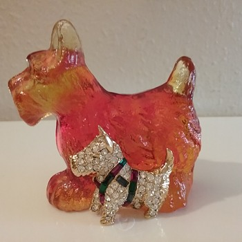 Scottish terriers by KJL and Kanawha Glass  - Art Glass