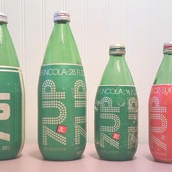 7up Syrofoam wrap bottles - Bottles