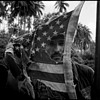 Dennis Hopper with an american flag.Apocalypse Now,Pagsanjan, Philippines, 1976