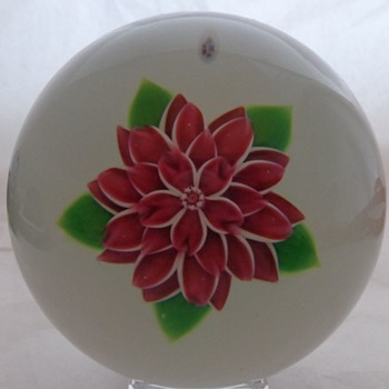 Baccarat Dahlia Rose Paperweight
