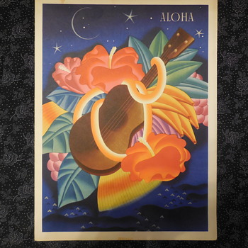 S.S. Monterey Ships Menu From Voyage To Honolulu 1939  - Advertising
