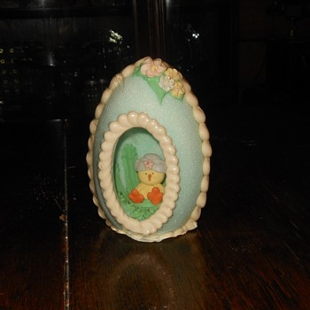 Panoramic Sugar Egg Until Now Sealed Easter Decoration - Advertising