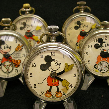Unusual Mickey Mouse Pocket Watch - Maker/Period Unknown - Pocket Watches