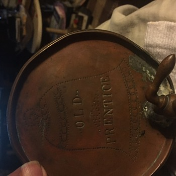 Old Prentice Whiskey Copper gallon size - Breweriana