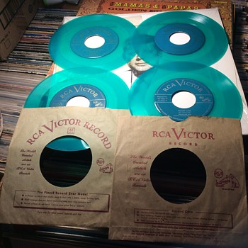 What is spinning at 45 revolutions per minute ,The Green Vinyl is  - Records