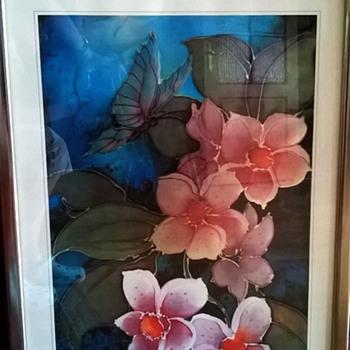 Gorgeous Framed Irridescent Print. Who's the Artist?