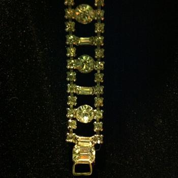 Rhinestone Bracelet - Costume Jewelry