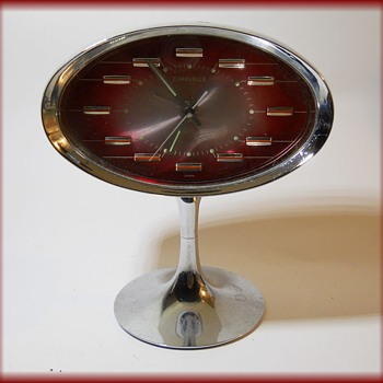 My 1970's Atomic Shape Space Age =  CARAVELLE ALARM CLOCK - Clocks
