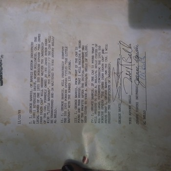 Contract for An Award of 25,000 to Whomever Found James Deans Death Car Signed By George Barris - Paper