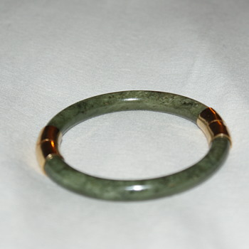 Vintage Jadeite Bangle - Costume Jewelry