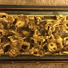 Ornately carved wooden panel from wedding or opium bed