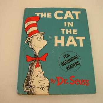 The Cat In The Hat Book Dr. Seuss 1st Edition 1st printing - Books