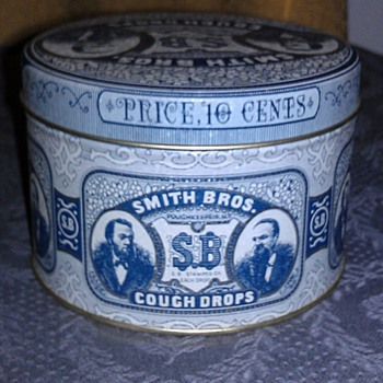 Smith Brothers Cough Drops Tin
