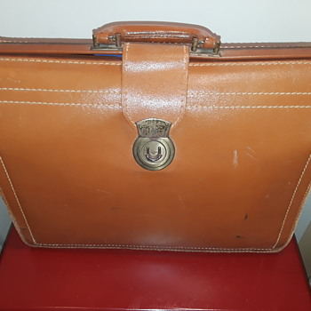 1950's-60's leather briefcase - Bags