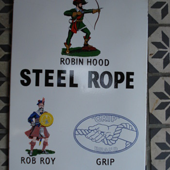 fifties porcelain sign from robin hood awsome - Advertising