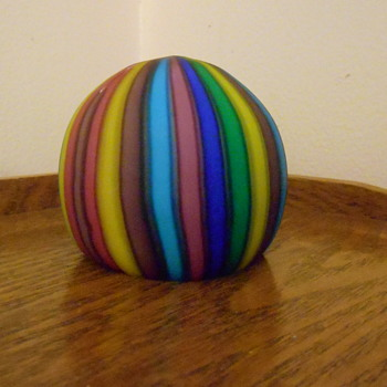 Vintage Art Glass Paperweight - Art Glass