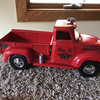 1954 Tonka MFD Fire Chief Pickup - Firefighting