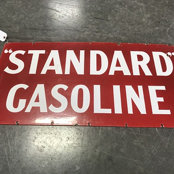 Standard gasoline sign in rare red color  - Petroliana
