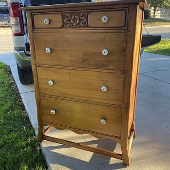 Antique Family Heirloom Maple Dresser - Furniture