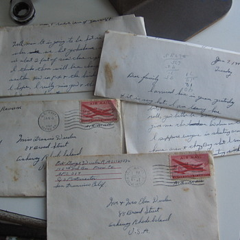 1947 Airmail Letter to Mom!!!  - Paper