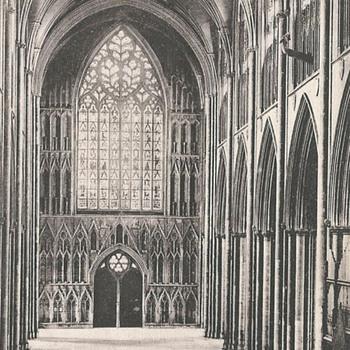 YORK MINSTER, NAVE WEST c. 1885 - Postcards