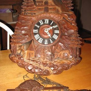 Heavily Carved Cuckoo Clock - Clocks
