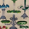 Carl Hosch Catalog Photos of Various Bohemian Art Glass Compotes and Decors for Roycroftbooksfromme1