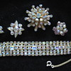 WEISS Bracelet Brooch And Earrings