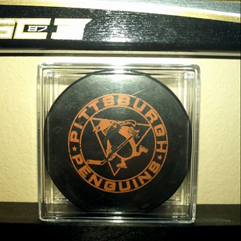 Pittsburgh Penguins Official Practice Puck 1967-70 - Hockey