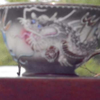 dragon nude geisha tea cup - Asian