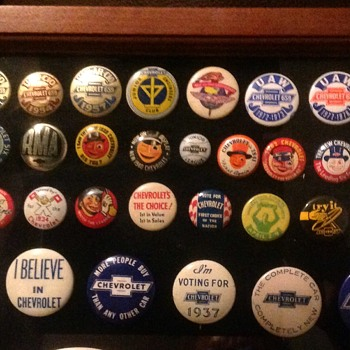 Chevrolet Pinback Collection