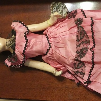 No Markings OLD Spanish Flamenco Dancer Composition Face Hands & Feet Doll