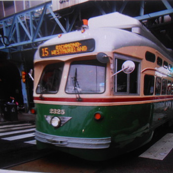 Retro trolley in North Philadelphia