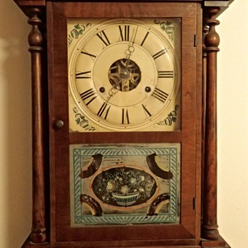 Seth Thomas Four Column 1 Day Clock (Manufactured ?) - Clocks