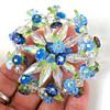 Vendome aurora borealis floral brooch