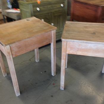 Antique school desks - Furniture