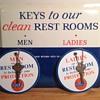 1961 Gulf Service Station Restroom Key Rack