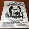 Prevent a 2nd MASSACRE at WOUNDED KNEE-Solidarity w Indian Nations-1973 Poster