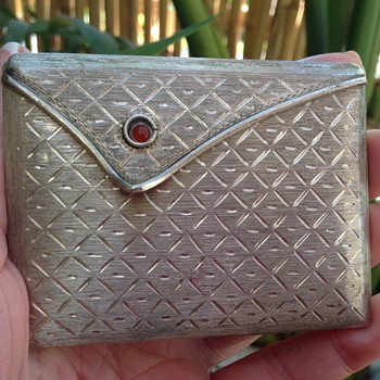 Vintage Italian Silver Compact - Accessories