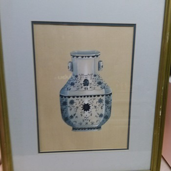 ORIENTAL VASE OIL PAINTING - Fine Art