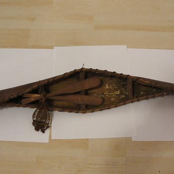 Souvenir Canoe Quebec Indian