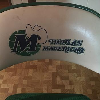 Dallas Mavericks courtside seat from Reunion Arena - Furniture
