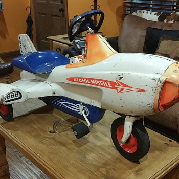 ORIGINAL MURRAY ATOMIC MISSLE PEDAL CAR PLANE - Toys