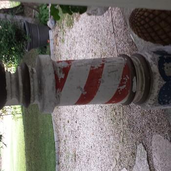 Plaster on Burlap Barber Pole
